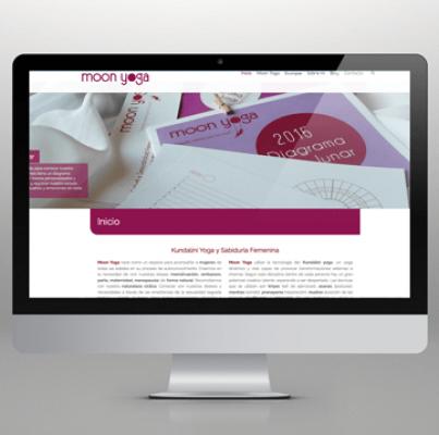 Rediseño de página web Moonyoga