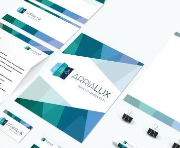Diseño de identidad corporativa Arrialux