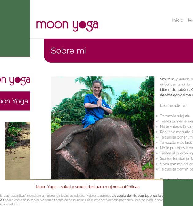 Rediseño Web moonyoga